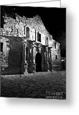 The Alamo At Night Greeting Card