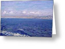 The Albanian Sea Greeting Card
