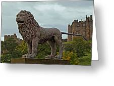 The Alnwick Lion Greeting Card