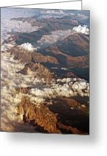 The Alps, Aerial Photograph Greeting Card