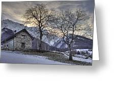 The Alps In Winter Greeting Card
