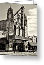 The Ambler Theater In Sepia Greeting Card
