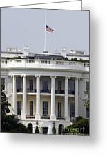 The American Flag Flies At Half-staff Greeting Card