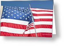 The American Flag Hangs Greeting Card