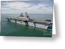 The Amphibious Assault Ship Uss Wasp Greeting Card