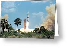 The Apollo 16 Space Vehicle Is Launched Greeting Card