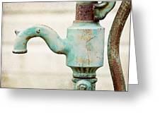 The Aqua Pump Greeting Card