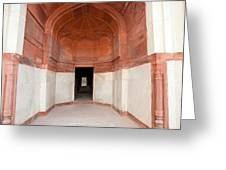 The Architecture And Doorways Of The Humayun Tomb In Delhi Greeting Card