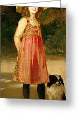 The Artist's Daughter - Hilde   Greeting Card