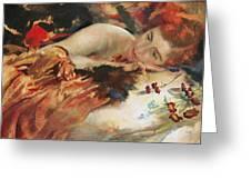 The Artist's Mistress Greeting Card