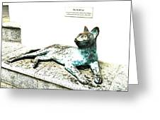 The Asian Civilisations Museum Cat Greeting Card