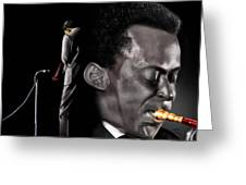 The Back And The Affront Of Miles Davis Greeting Card