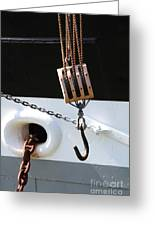 The Balclutha . A 1886 Square Rigged Cargo Ship At The Hyde Street Pier In Sf . Hook . 7d14165 Greeting Card by Wingsdomain Art and Photography