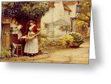 The Ballad Seller Greeting Card