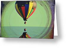The Balloon And The Sea Greeting Card