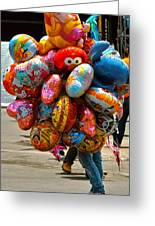 The Balloon Lady Greeting Card