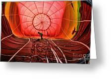 The Balloonist - Inside A Hot Air Balloon Greeting Card