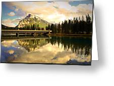 The Banff Bridge Reflected Greeting Card