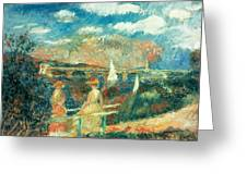 The Banks Of The Seine At Argenteuil Greeting Card