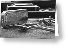 The Barber Shop 1 Bw Greeting Card