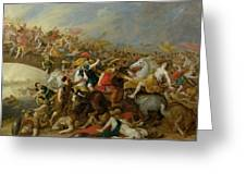 The Battle Between The Amazons And The Greeks Greeting Card