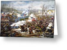 The Battle Of Pea Ridge, Greeting Card