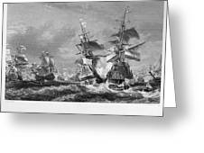The Battle Of Texel, 1673 Greeting Card