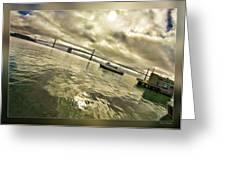 The Bay Bridge Cruz Greeting Card