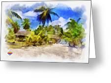 The Beach 01 Greeting Card