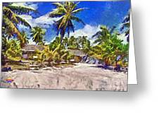 The Beach 02 Greeting Card by Vidka Art