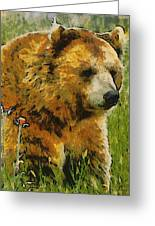 The Bear Painterly Greeting Card