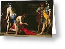 The Beheading Of John The Baptist Greeting Card