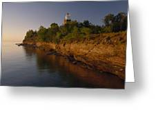 The Big Bay Point Lighthouse, Now A Bed Greeting Card