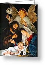 The Birth Of Christ    Feliz Navidad Greeting Card