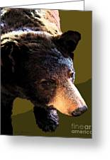 The Black Bear Greeting Card by Tammy Ishmael - Eizman