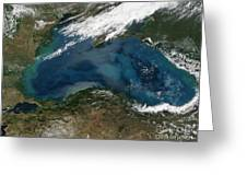 The Black Sea In Eastern Russia Greeting Card by Stocktrek Images