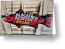 The Blackened Redfish Store Greeting Card