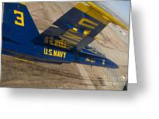 The Blue Angels Perform Over El Centro Greeting Card