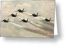 The Blue Angels Perform Their Delta Greeting Card