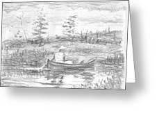 The Blue Canoe Greeting Card