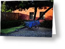 The Blue Cart Greeting Card