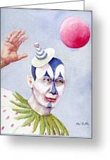 The Blue Clown Greeting Card