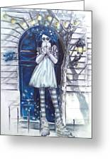The Blue Door Greeting Card by Lori Keilwitz