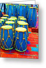 The Blue Drums Greeting Card