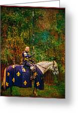 The Blue Knight  Greeting Card