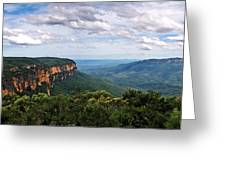 The Blue Mountains - Panoramic View Greeting Card
