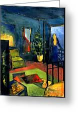 The Blue Room Greeting Card by Mona Edulesco