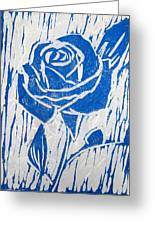 The Blue Rose Greeting Card by Marita McVeigh