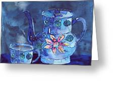 The Blue Teapot Greeting Card