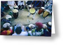 The Blur Of A Frenzied Beat In A Circle Greeting Card